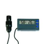 Zidni termohigrometar sa eksternom sondom i alarmom, 810-195